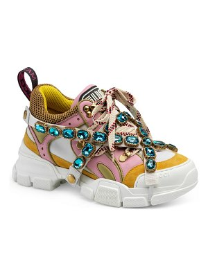 Gucci flashtrek jewel embellished sneaker