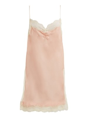 Gucci Floral-lace detailed silk cami