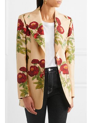 Gucci floral-print wool and mohair-blend blazer