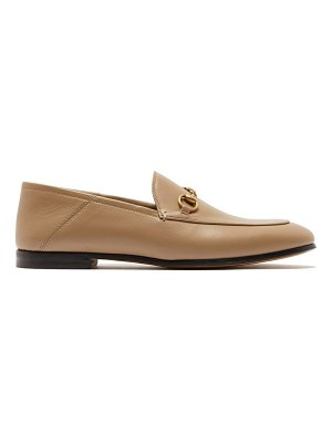 Gucci foldable-heel leather horsebit loafers