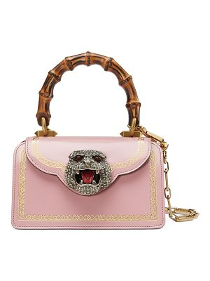 Gucci frame print leather mini top handle bag
