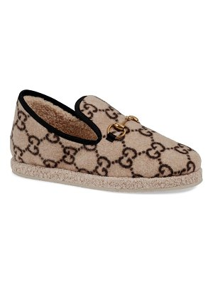 Gucci fria gg supreme wool slipper loafer