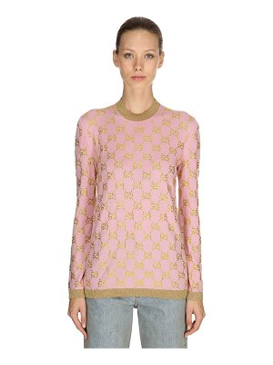 Gucci Gg embellished wool jacquard sweater