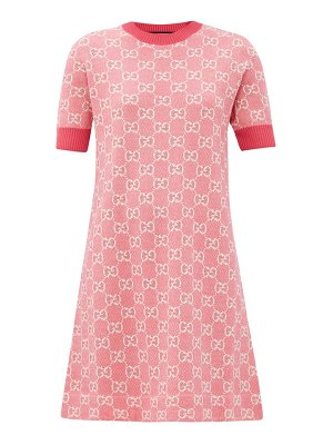 Gucci gg-jacquard wool-blend mini dress