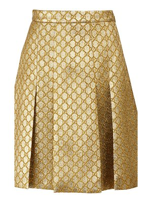 Gucci GG lurex pleated skirt