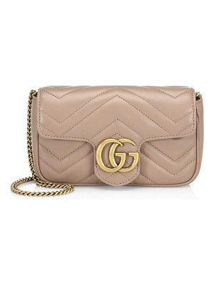 Gucci gg marmont matelassé leather mini chain camera bag