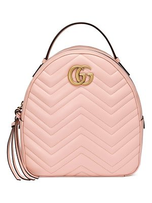 Gucci gg marmont matelasse quilted leather backpack