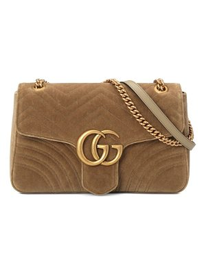 Gucci medium gg marmont velvet shoulder bag