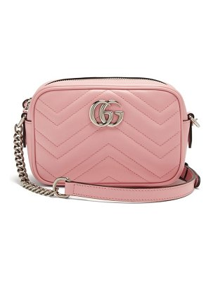 Gucci gg marmont mini quilted-leather cross-body bag