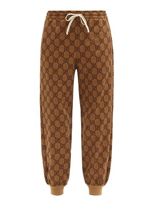 Gucci gg-print technical-jersey track pants