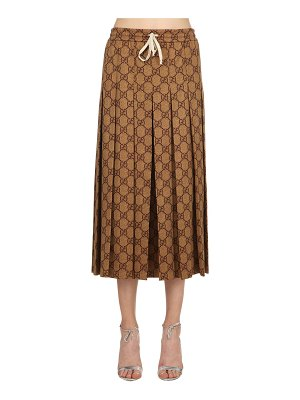 Gucci Gg supreme pleated jersey skirt