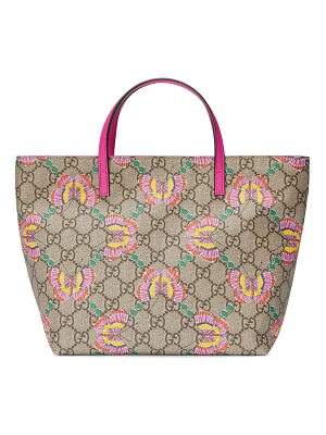 GUCCI Girls' Gg Supreme Butterfly Tote Bag