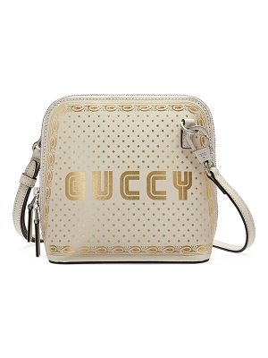 Gucci Guccy Script Dome Leather Crossbody Bag