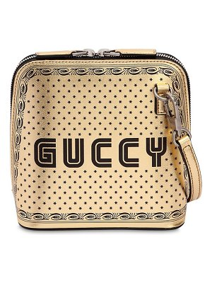 Gucci Guccy & stars metallic faux leather bag