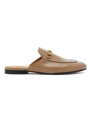 Gucci horsebit leather backless loafers