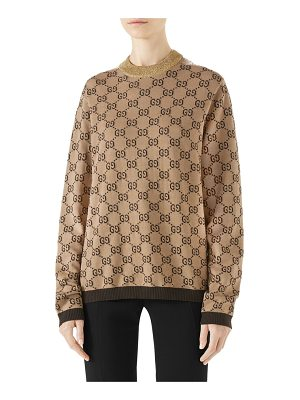 Gucci intarsia logo wool sweater