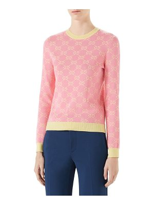 GUCCI Jacquard Wool Pullover Sweater