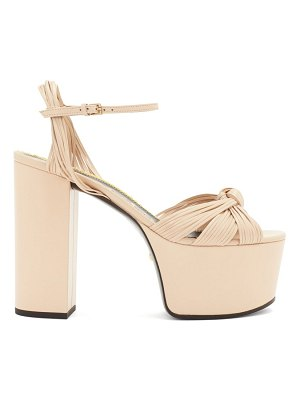 Gucci knotted-vamp leather platform sandals
