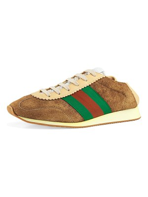 Gucci Lace-Up Suede Sneakers