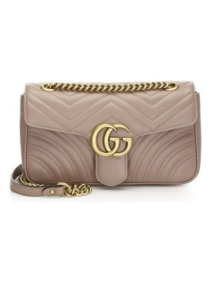 GUCCI Leather Marmont Chain Shoulder Bag