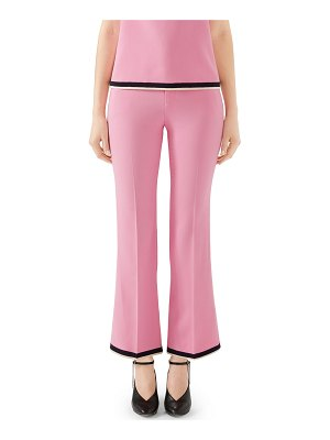 Gucci Lightweight Viscose Stretch Cady Boot-Cut Pants