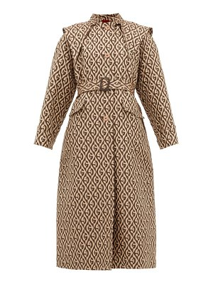 Gucci logo-jacquard single-breasted trench coat