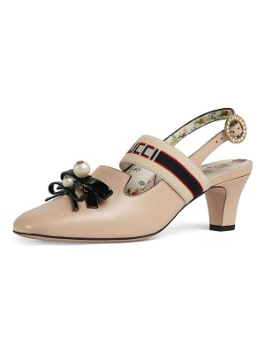 Gucci Buffy 55mm Leather Slingback Pump