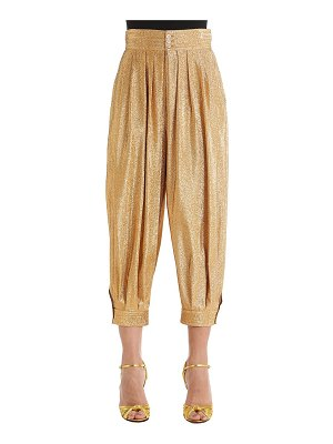 Gucci Lurex & silk blend crepe balloon pants