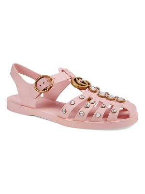 Gucci marmont crystal embellished fisherman sandal