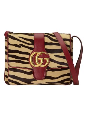 Gucci medium arli tiger print genuine calf hair & leather shoulder bag