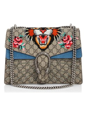 GUCCI Medium Dionysus Embroidered Angry Cat Gg Supreme Shoulder Bag