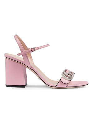 Gucci mid-heel sandals with double g