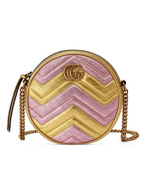 Gucci mini gg marmont round shoulder bag