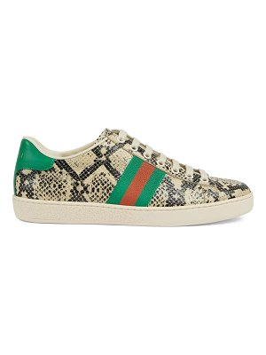 Gucci new ace python-print sneakers