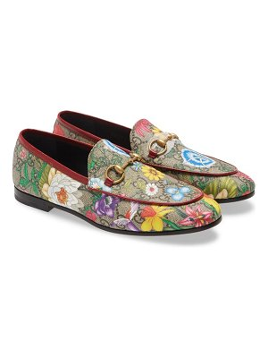 Gucci new jordaan floral gg supreme loafer