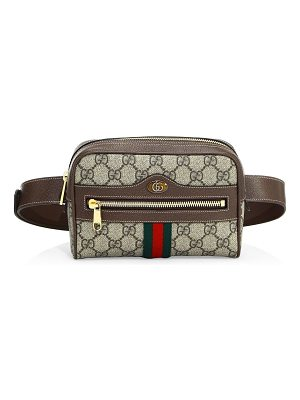 GUCCI Ophidia Gg Supreme Small Seude Belt Bag