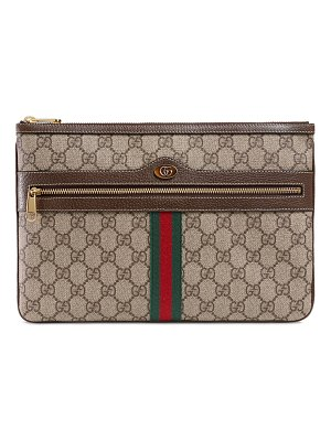 Gucci Ophidia Large GG Supreme Pouch Clutch Bag
