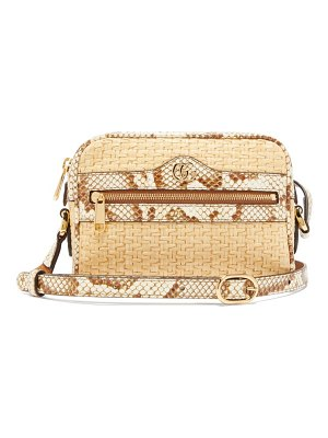 Gucci ophidia mini watersnake-trim cross-body bag