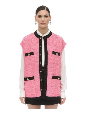 Gucci Oversize cotton blend tweed vest