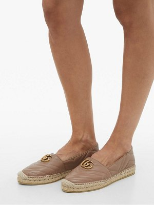 Gucci pilar gg quilted-leather espadrilles