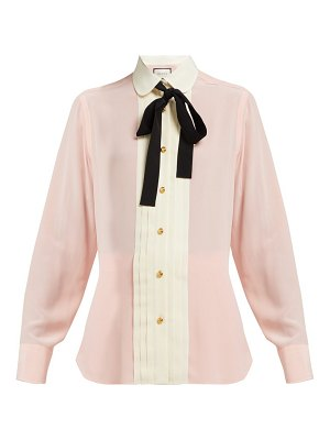 Gucci pleated silk crepe blouse