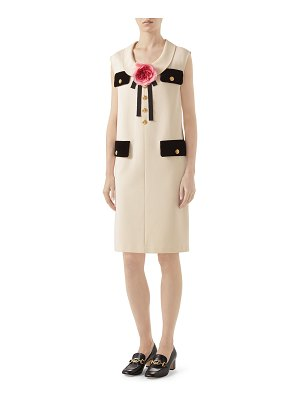 Gucci Pocket-Front Sleeveless Shift Dress