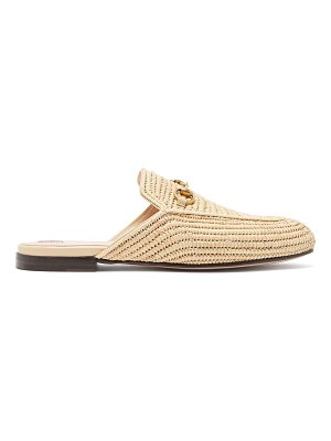 Gucci Princeton raffia backless loafers