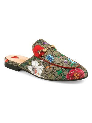 Gucci princetown floral gg supreme loafer mule