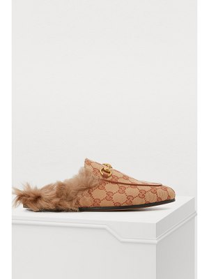 Gucci Princetown fur-lined mules