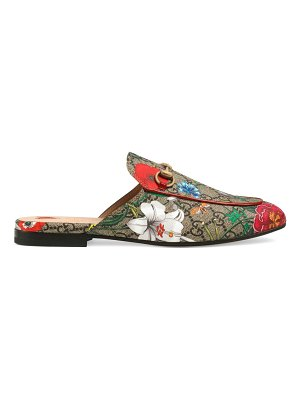 Gucci princetown gg floral slippers