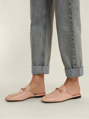 Gucci Princetown leather backless loafers