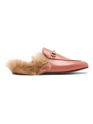 Gucci Princetown Shearling Lined Leather Loafers