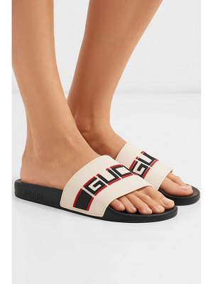 Gucci pursuit logo-embellished rubber slides