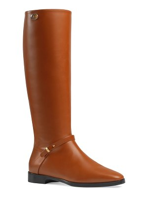 Gucci Rosie 25mm Leather Riding Boots